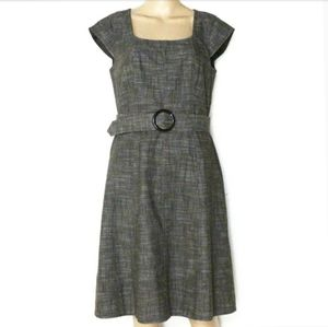 Ann Taylor 6, Belted Crosshatch Dress